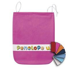"""Sacchetto da asilo in cotone canvas (panama) con personalizzazione nome """"Simpatico"""""""