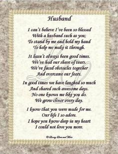 Free Anniversary Poems For Husband