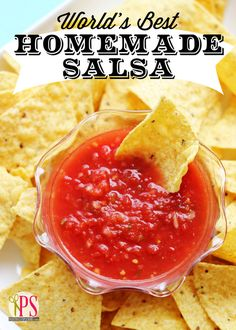 World's Best Homemade Salsa: Simple, healthy & delicious.