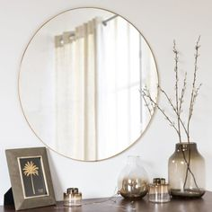 Golden Metal Mirror D70 Kenya | Maisons du Monde