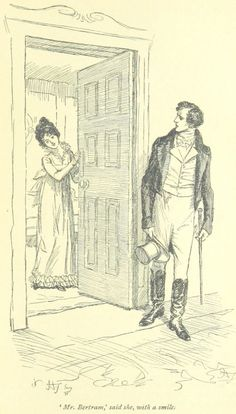 Jane Austen Mansfield Park - M. Bertram, dit-elle, avec un sourire Jane Austen Mansfield Park, Pride & Prejudice Movie, Drawing People Faces, People Illustration, Book Illustrations, Jane Austen Books, Pose Reference Photo, Face Sketch, Classic Literature