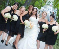 I LOVE Black bridesmaids dresses