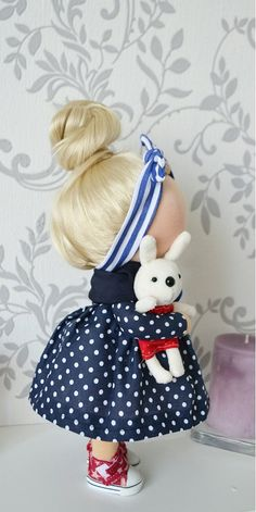 Pinup doll Fabric doll Interior doll Handmade by AnnKirillartPlace