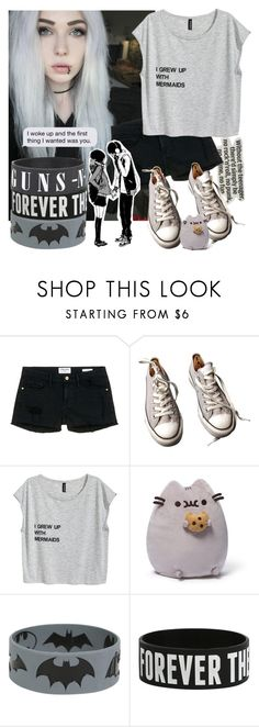 """""""I grew up with mermaids"""" by natsuko-yuuki ❤ liked on Polyvore featuring Frame Denim, Converse and Gund"""