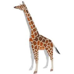 Giraffe,Animals,Paper Craft,Africa / Middle East,yellow,Animals,Beginner series,easy