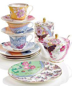 WIZWID:위즈위드 - [Wedgwood:웨지우드] [재입고]Harlequin Butterfly Bloom Plates, Set Of 4