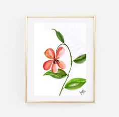Peach flower watercolor painting nature abstract by Sweepinggirl
