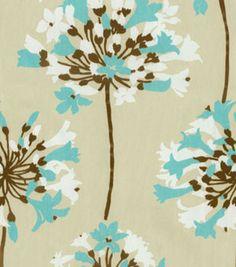 curtain fabric - Home Decor Print Fabric-Waverly Sparkler/Aquamarine