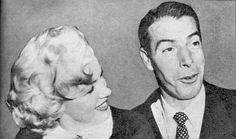 Marilyn Monroe and Joe DiMaggio on their wedding day, January 14th 1954.