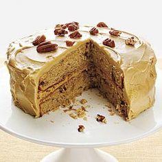 Pecan Spice Cake with Maple Frosting Recipe | MyRecipes.com