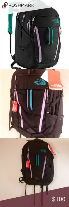 NWT North Face Surge Backpack Kokomo Green/Violet The North Face Women's Surge Backpack, Kokomo Green/african Violet. New with tags. Thanks for looking!! The North Face Bags Backpacks