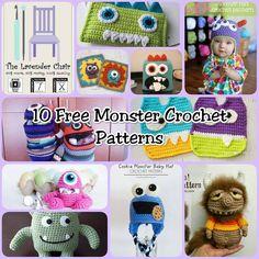 10 Free Monster Crochet Patterns