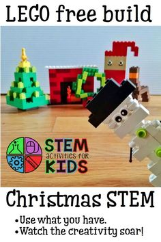 STEM activity for kids - LEGO free build for Christmas / winter! | STEM Activities for Kids