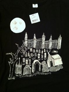 Hand Painted Grave Yard Black T Shirt Offered by #DevKelTees on Bonanza