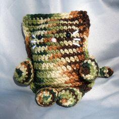 Camouflage Crochet Cat Plushie Stuffed Animal - product image