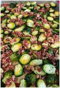 Baked Brussel Sprouts Casserole Keto Friendly