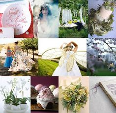 Many inspirations of enchanted forest wedding, not only on this pictures