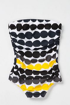 Draped Dots Maillot #anthropologie
