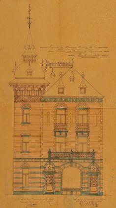Ixelles - Ancien Café Suisse - Boulevard Général Jacques 48 - Avenue de l'Hippodrome 173 - DELUNE Ernest