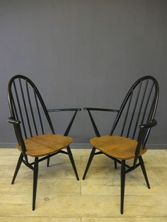 Pair of Ercol Quaker Carver Chairs, Retro, Mid Century in Home, Furniture & DIY, Furniture, Chairs | eBay