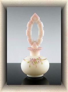 Fenton Burmese Perfume Bottle