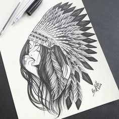 Still waiting for my Indian Queen to return. Beautiful my spirit is healing and I get stronger everyday. Sketch Tattoo Design, Tattoo Sketches, Art Sketches, Art Drawings, Tattoo Designs, Native American Tattoos, Native Tattoos, Native American Art, American History