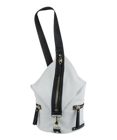 Look at this Kenneth Cole Reaction Chalk & Black Bondi Girl Sling Crossbody Bag on #zulily today!