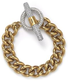 Juicy Couture Luxe Rocks Crystal Link Bracelet in Gold - Lyst