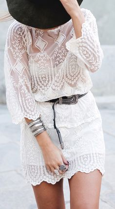 """Lace dress ♥♡♥♡♥Thanks, Pinterest Pinners, for stopping by, viewing, re-pinning,  following my boards.  Have a beautiful day! ^..^ and """"Feel free to share on Pinterest ^..^ #streetfashion   #fashionupdates   #women"""