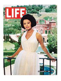 Sophia Loren in her new villa, Life magazine,September 1964.