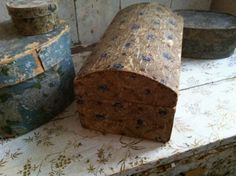 19th C early wallpaper boxes