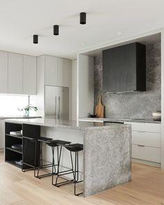 Awesome modern kitchen room are offered on our site. Have a look and you wont be sorry you did. Beautiful Kitchen Designs, Modern Kitchen Design, Beautiful Kitchens, Interior Design Kitchen, Modern Interior Design, Cool Kitchens, Studio Interior, Interior Livingroom, New Kitchen
