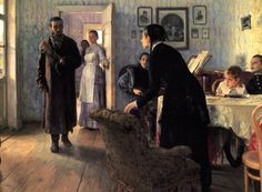 Unexpected Visitors (Ilya Repin)