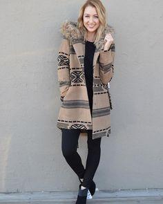 Our newest favorite!  We can't get enough of this adorable @bbdakota coat for those crisp fall days  | Coat $126 | Jeggings $70 | #fallfashion #bbdakota #kutfromthekloth #musthaves #juneandbeyond #shopjuneandbeyond