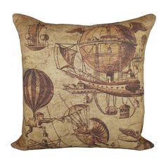 I pinned this Flying Machines Pillow from the Steampunk Lounge event at Joss and Main!