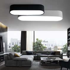 Modern Ceiling Mounted Lamps 24W-48w Black and White Kitchen Ceiling Lamp L65/90/120CM Indoor Ceiling Lighting