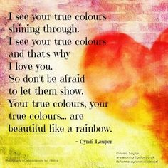 True Colors, Cyndi Lauper                                                                                                                                                     More