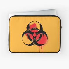 'Biohazard Symbol' Laptop Sleeve by EddieBalevo Laptop Cases, Phone Cases, Wall Tapestries, Tapestry, Throw Blankets, Throw Pillows, Graffiti Styles, Back To Black, Shower Curtains