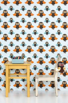 Ferm Living Owls wallpaper