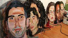 crochet portraits by Jo Hamilton