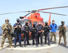 U.S. Coast Guard law enforcement personnel and maritime law enforcement personnel from Cabo Verde on U.S. Coast Guard Cutter Bear's helicopter deck during a break in training. Patriotic Poems, Coast Guard Cutter, Law Enforcement, Cabo, Deck, United States, Training, America, Image