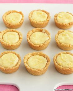 """Easy to make and charming in appearance, these tiny tarts are an ideal dinner-party dessert. The name is derived from the Scottish word for a """"small cup."""""""