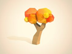Dribbble - Low Poly Tree by Chad Musch #lowpoly