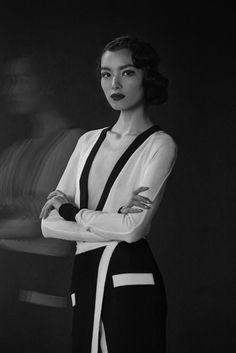 The Feminine Mystique (American Vogue March 14)  Peter Lindbergh - Photographer Tonne Goodman - Fashion Editor/Stylist Kamo - Hair Stylist Tom Pecheux - Makeup Artist Fei Fei Sun - Model