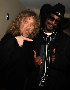 Robert Plant of Led Zeppelin with Snoop Dog #RobertPlant #LedZeppelin #LedZep #Zep