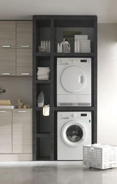 40 Gorgeous Small Laundry Room Design Ideas 40 Gorgeous Small Laundry Room Design Ideas - Laundry areas, in general, easily end up a place where items are stored, stashed, and procrastinated -- to do later. With small laundry rooms this bec. Laundry Room Cabinets, Kitchen Cabinet Remodel, Laundry Room Organization, Laundry Room Design, Basement Laundry, Diy Cabinets, Laundry Decor, Laundry Closet, Storage Cabinets