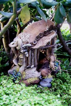 "zauberwald: Fairy house  ""It's easy to believe in magic when you're young. Anything you couldn't explain was magic then. It didn't matter if it was science or a fairy tale. Electricity and elves were both infinitely mysterious and equally possible — elves probably more so.""  ~Charles de Lint"