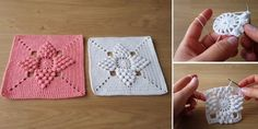 Popcorn Stitch Square Tutorial - Vintage Style - Design Peak