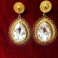 Filigrana Pearl Earrings, Drop Earrings, Maxi Dresses, Indian Jewelry, Jewels, Jewellery, Beautiful, Gold Plating, Quilling