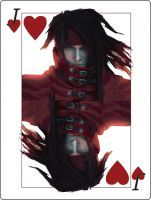 Vincent Valentine Playing Card by SpookyCasper Final Fantasy Characters, Final Fantasy Vii, Jack Of Hearts, Vincent Valentine, Playing Card, Deviantart